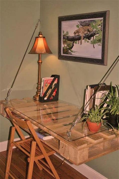 Wall Hanging Desks by Pallet Wall Desk Design Pallets Designs