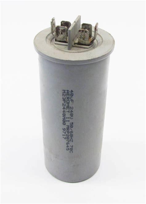 aerovox capacitor 2779 mf aerovox m23p2440m00 1 capacitor pkg 40mf 240v motor start capacitor ebay