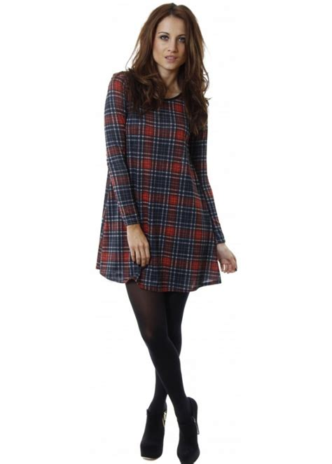 red tartan swing dress tartan swing dress tartan jersey dress tartan dresses