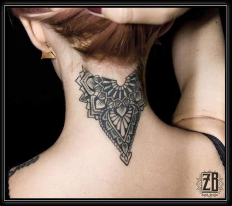 zottl nacken dotwork mandala tattoos von tattoo