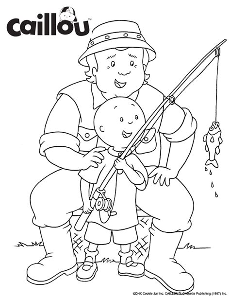 Caillou Coloring Pages by Caillou My Word Book Coloring Sheet