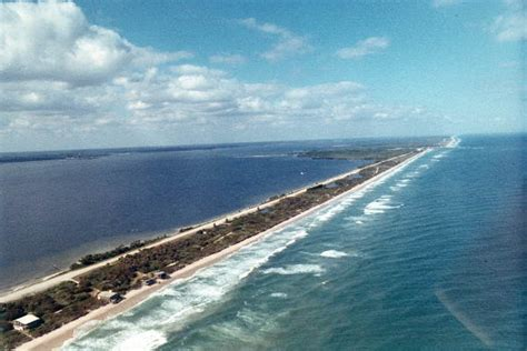 Indian River County Court Search Florida Memory Aerial View Overlooking Sebastian Inlet Indian River County Florida