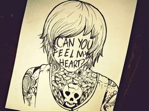 how do you doodle drawing my feelings and emotions bring me the horizon my and on