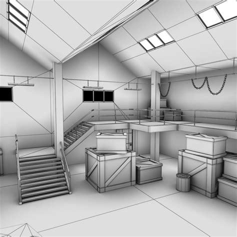 interior design 3d models free warehouse interior 3d model max obj fbx lwo lw lws ma mb
