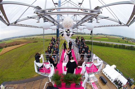 dinner in the sky bathroom femail reveals the most unique places you can get married