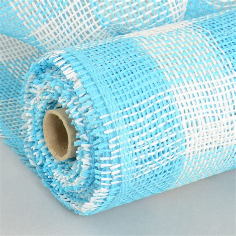 How To Make Paper Mesh - 10 quot paper mesh roll blue white plaid rr800242