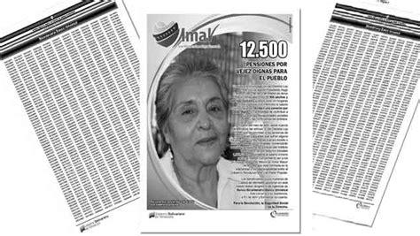 lista de pensionados de abril lista de nuevos pensionados en amor mayor 29 04 prensa