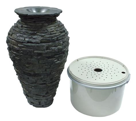 stacked slate urn small kit fountain kit fiberglass
