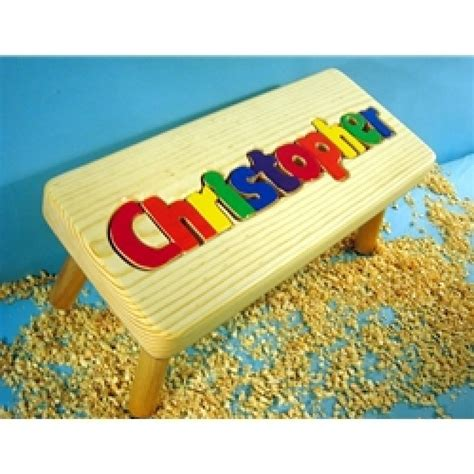 Personalized Puzzle Stools For Toddlers by Personalized Puzzle Step Stools Wooden Name Puzzle