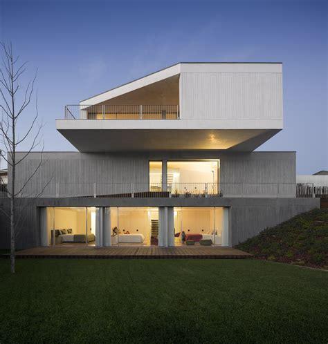 Garage Designs Ideas concrete house in travanca by nelson resende