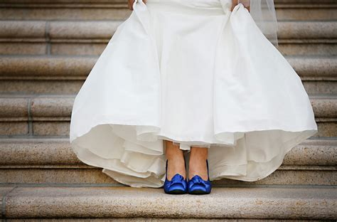 blue white modern asian wedding washington dc shoes