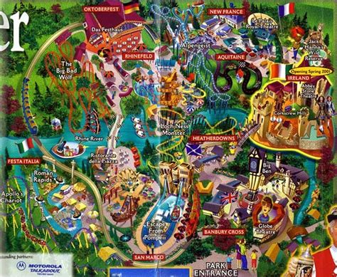 78 best images about theme park maps on