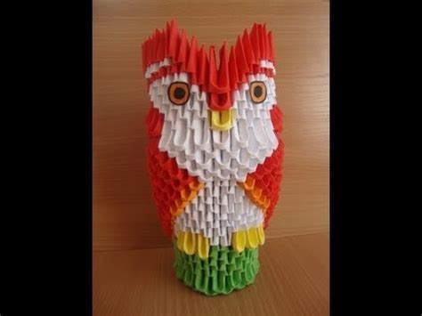 origami 3d owl tutorial 17 best images about origami 3d on pinterest flower