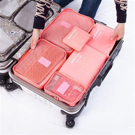 7 In 1 Travel Bag Organizer 6pcs waterproof travel storage bags packing cube clothes pouch luggage organizer at banggood