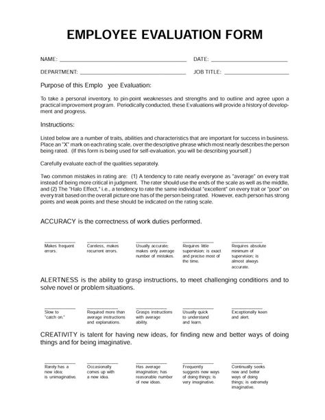 sample employee performance review 7 documents in word pdf