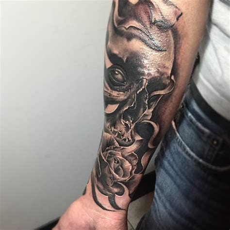 tattoo ideas dark one eyed dark skull tattoo by cringe tattoos best tattoo