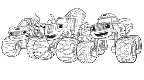 blaze coloring pages nick jr blaze and the monster machines coloring book nick jr