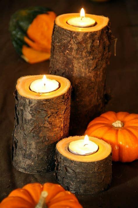 kerzenhalter für große teelichter herbst deko basteln kerzen f 252 r elegante beleuchtung