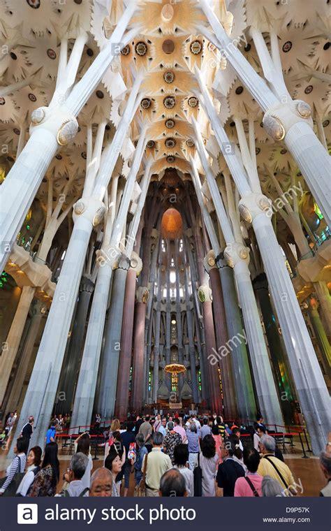interior de la sagrada familia interior of the basilica de la sagrada familia cathedral