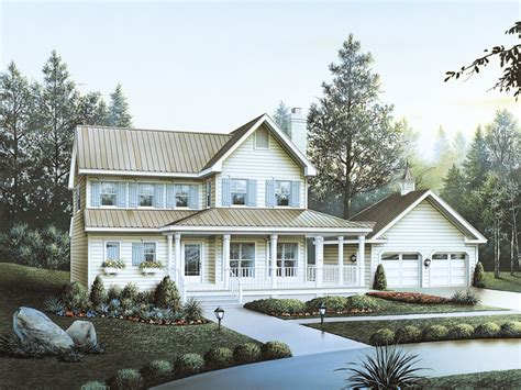 wrap around porch cost brookfield country home plan 040d 0027 house plans and more