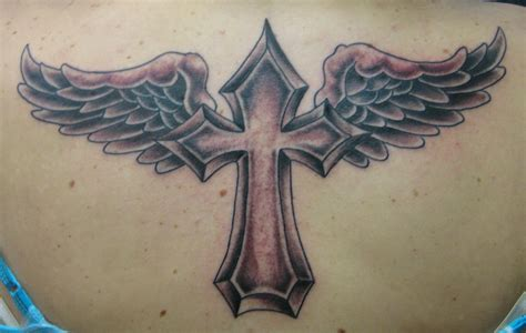 winged cross tattoo work hoffman