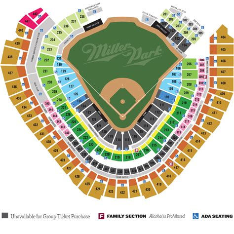 miller park seating map seating chart for miller park milwaukee motorcycle