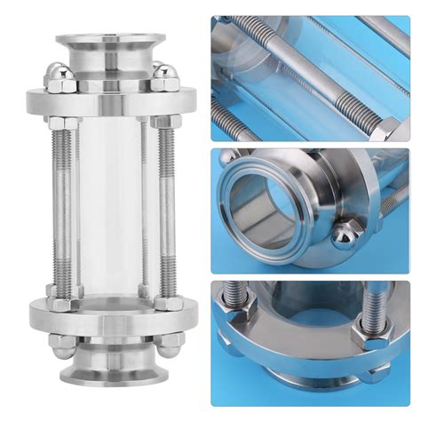 Sanitary Ss304 Dia 6 Inch 1 5 quot inch stainless steel ss304 flow sanitary sight glass tri cl type 1 6 mpa ebay