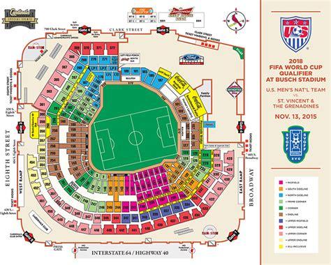 stl stadium seating chart soccer at busch stadium st louis cardinals