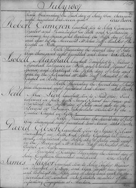 Scottish Birth Marriage And Records Parish Registers Births And Baptisms National Records Of Scotland