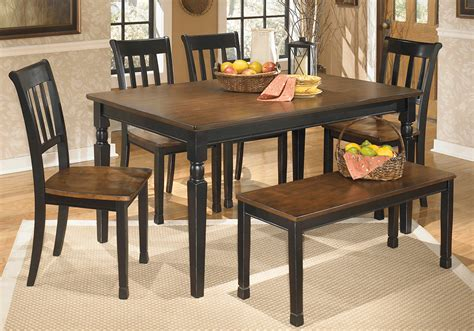 Owingsville Dining Room Bench Owingsville Dining Table 4 Side Chairs Dining Bench