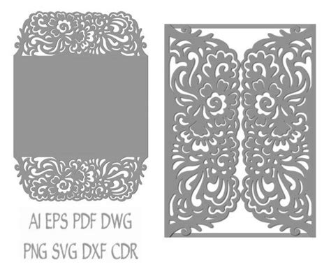 template border card cricut 57 best laser cut cricut svg wedding invitation templates