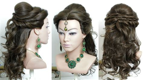 bridal hairstyles tutorial you tube curly prom bridal hairstyle for long hair tutorial youtube