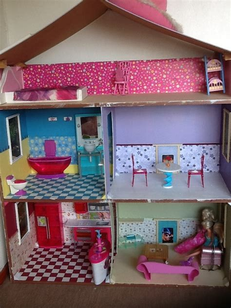 diy barbie doll house barbie dollhouse diy smart pinterest