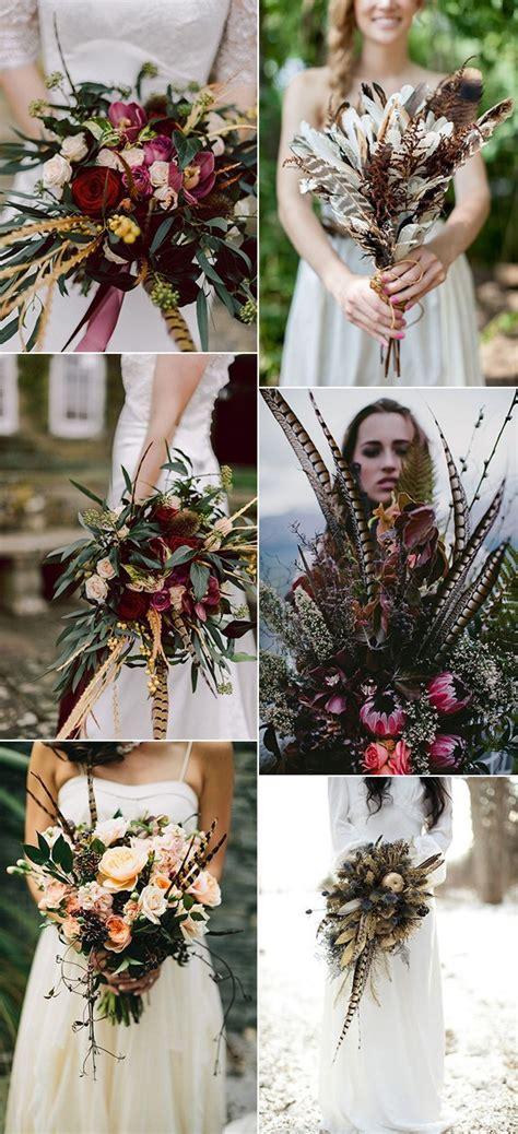 unique wedding bouquet ideas  feathers page