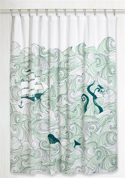 maritime curtains swell acquainted shower curtain mod retro vintage bath