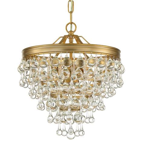 crystorama calypso chandelier crystorama crystorama calypso 3 light vibrant gold mini chandelier