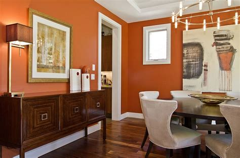 Decorating A Powder Room by 25 Trendy Dining Rooms With Spunky Orange