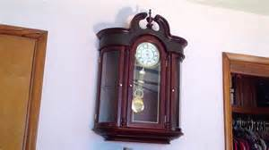 Colonial Curio Cabinet Wall Clock Rare D Amp A Curio Cabinet Wall Clock Youtube