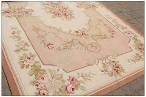 8x10 shabby french chic aubusson rug light pink ivory cream subtle pastel roses ebay