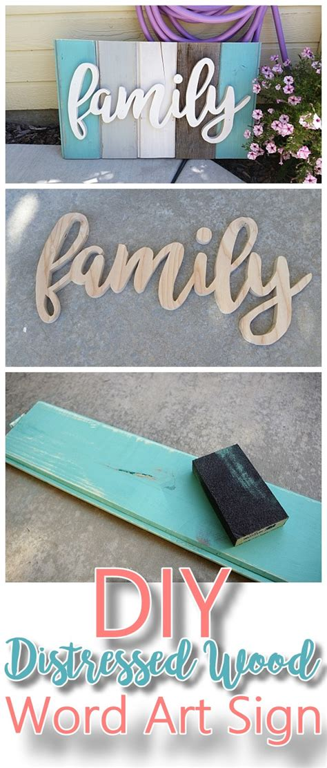 do it yourself home projects new old distressed barn wood word art indoor outdoor