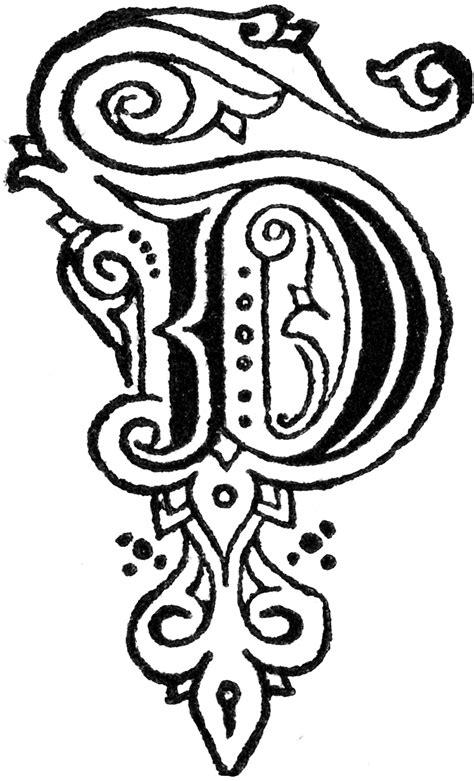 Decorative Letter D   ClipArt ETC D Alphabet Design