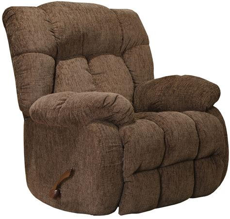 catnapper chaise recliner laredo chaise rocker recliner in chocolate fabric by