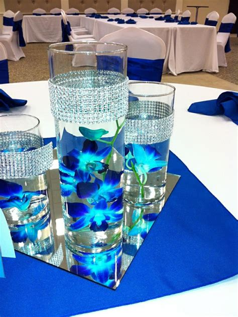 glass table decoration ideas 42 stunning table decorations in blue hum ideas