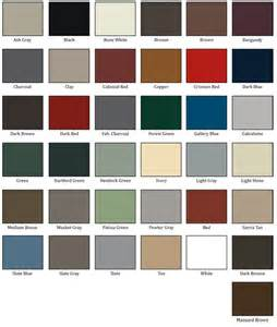 metal roof color chart snow guards for metal roofs metal roof snow guards