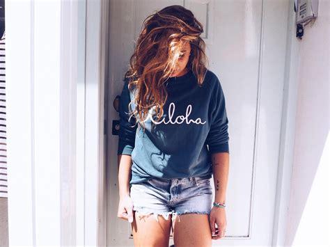 New Sweater Haloha ataloha nl aloha sweater petrol at aloha boutique