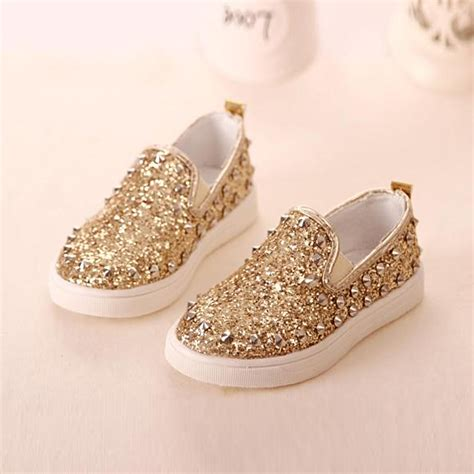 gold shoes for baby gold princess rubber rivet shoes child school shoes