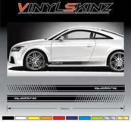 audi quattro premium side stripes decals graphics stickers