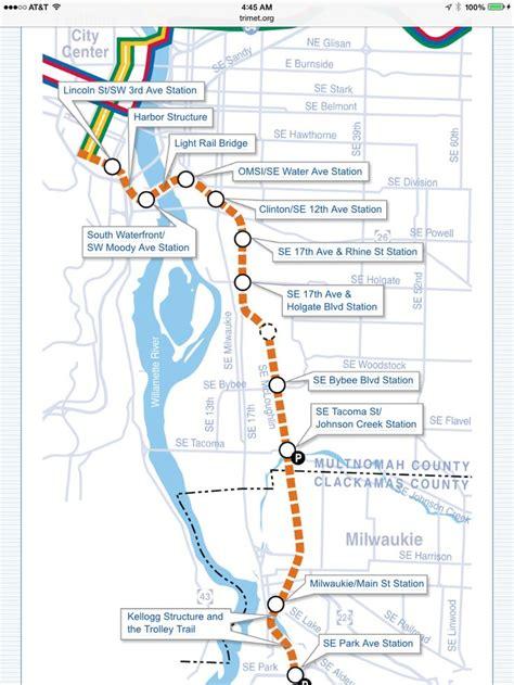 portland transit map portland s trimet orange line opened september 2015