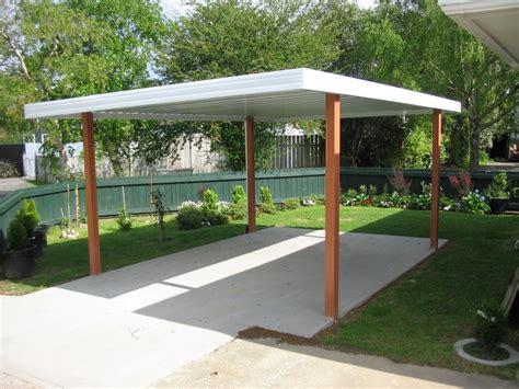 Car Port Roofing by Flat Roof Carports Single Carport Flat Roof Entry Wood