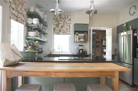 green kitchen cabinets cottage kitchen sherwin williams rosemary urban grace interiors